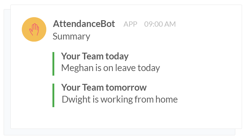 how to use slack - absence management