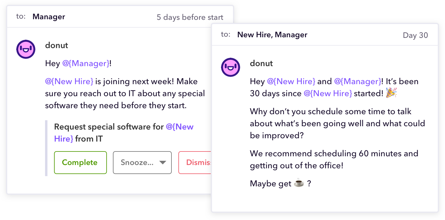 how to use slack - donut onboarding