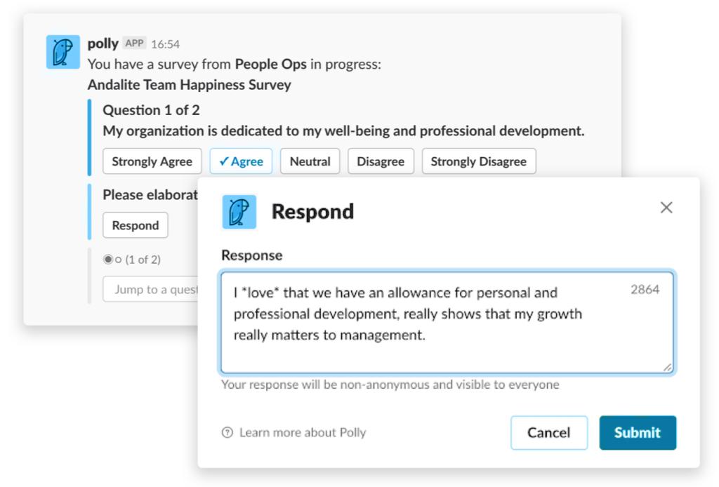 polly - modern HR attendancebot