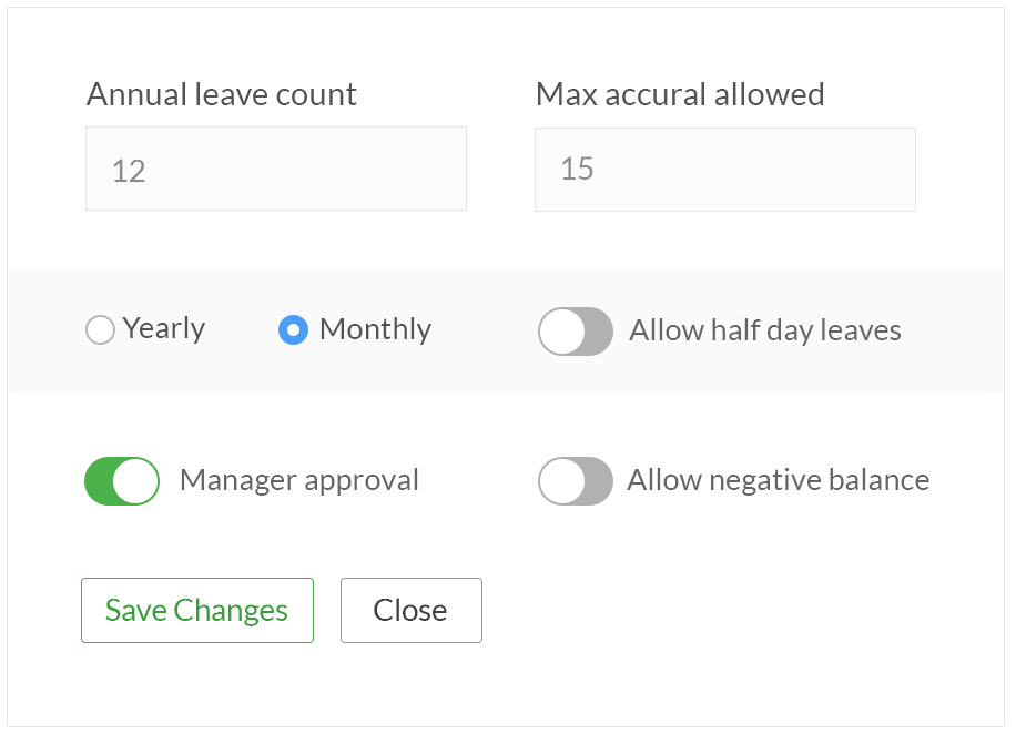 manage leave policy with attendancebot