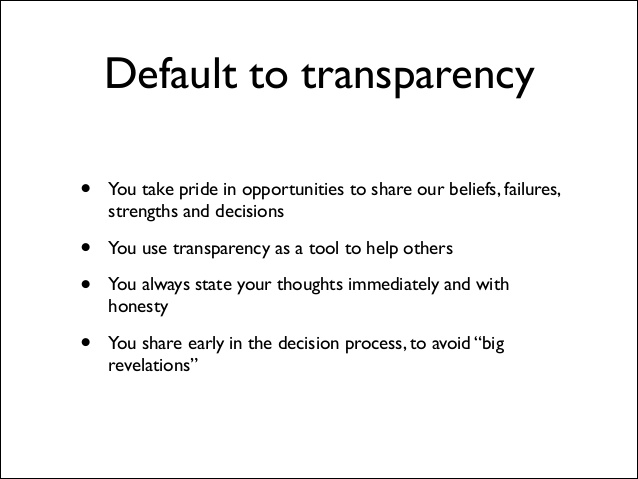 team culture in the workplace transparency