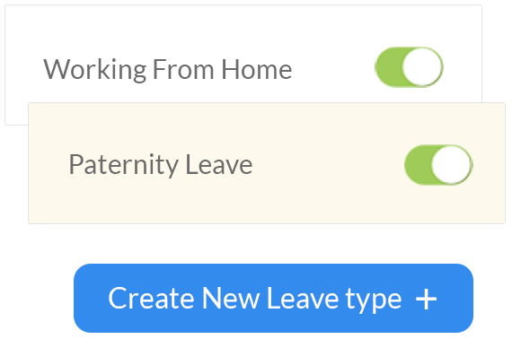 leave types for remote working teams