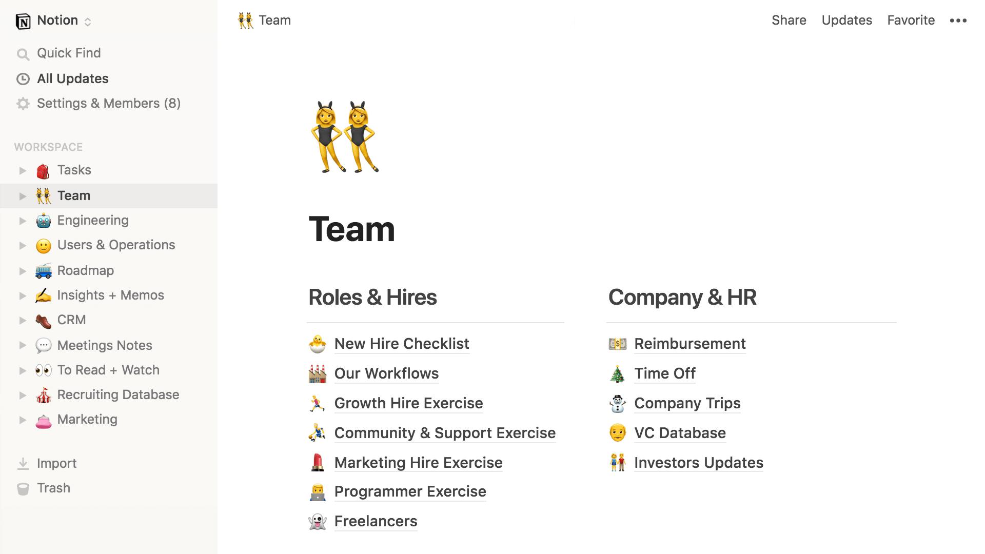 notion - team collaboration tools