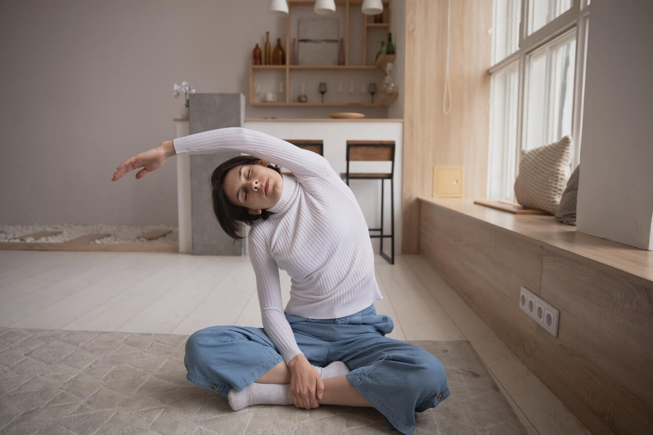 work from home stretches